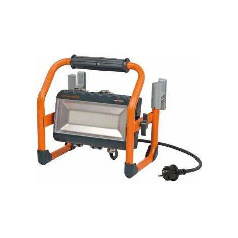 Brennenstuhl professionalLINE Hybrid SMD-LED-Strahler LA 4010 / LED Strahler mit Akku und Netzanschluss (5m Kabel, Außenleuchte 40W, Baustrahler für s