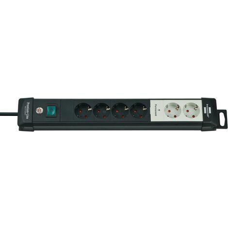 Brennenstuhl Prolongateur multiprise Premium-Line Technik 2+4 prises noir 3m H05VV-F 3G1,5