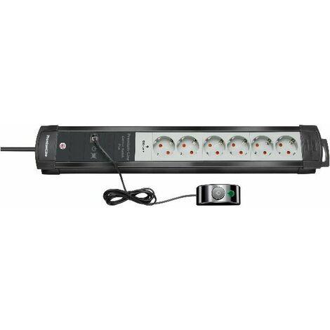 Brennenstuhl Prolongateur multiprise Premium-Plus-Line 6 prises noir/gris 3m H05VV-F 3G1,5