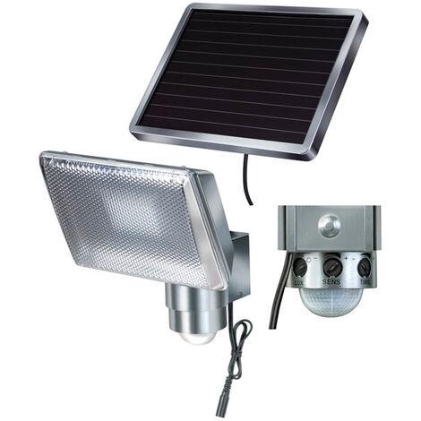 Brennenstuhl Spot LED solaire avec détecteur de mouvement - SOL 80 ALU - 4W - IP44
