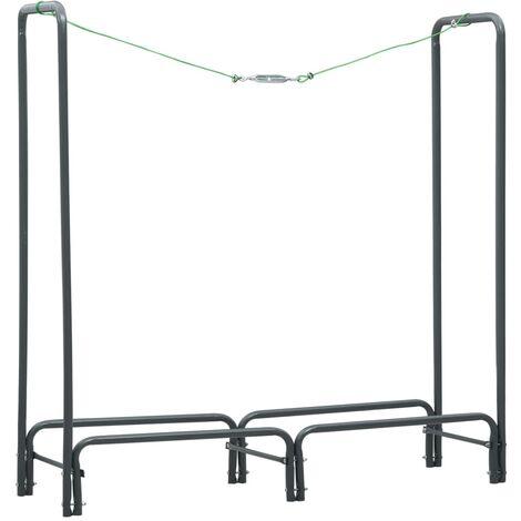 Brennholzregal Anthrazit 120×35×120 cm Stahl
