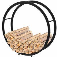 Brennholzregal Feuerholzständer Kaminholzablage rund
