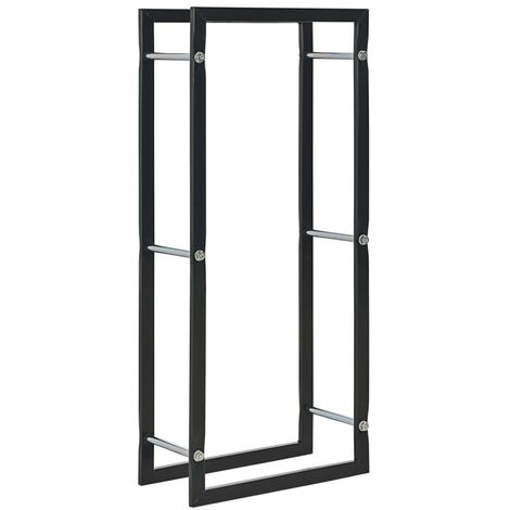 Brennholzregal Schwarz 44 x 20 x 100 cm Stahl