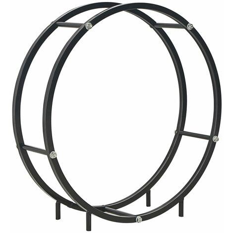 Brennholzregal Schwarz 70 x 20 x 70 cm Stahl