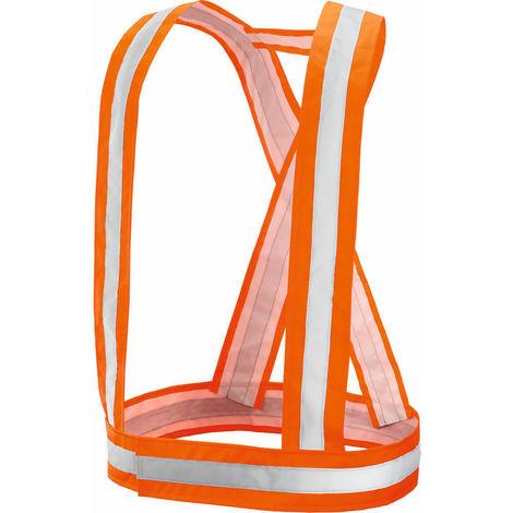 Bretelle alta visibilita' arancio catarifrangenti bici auto rifrangenti