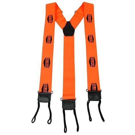 Bretelles à tresses 45 mm ORANGE - SOLIDUR - Orange - - taille: