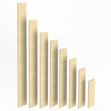 w/ählen:4-5 kg 4-20kg Birke Multiplex Sperrholz Reste Holz Bastler Holzleiste Platten Zuschnitt unbehandelt Natur von Alsino