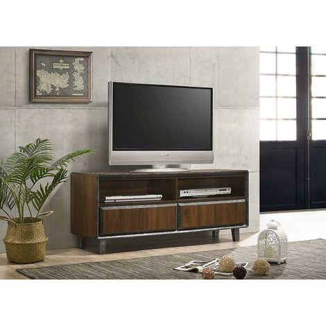 Bretton TV Unit Stand Cabinet Walnut Living Room Furniture