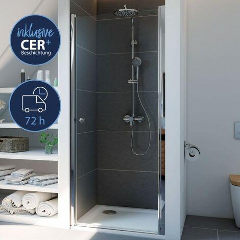 Breuer Dusche Elana 6 Drehtür Nische Anschlag Rechts 90 cm inkl. CER+ Beschichtung