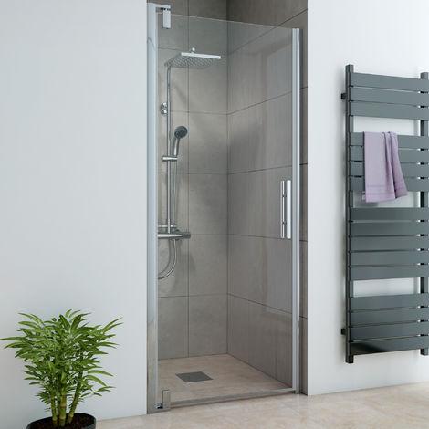 Breuer Dusche Europa Design Drehtür Nische Anschlag Links 100 cm inkl. CER+ Beschichtung