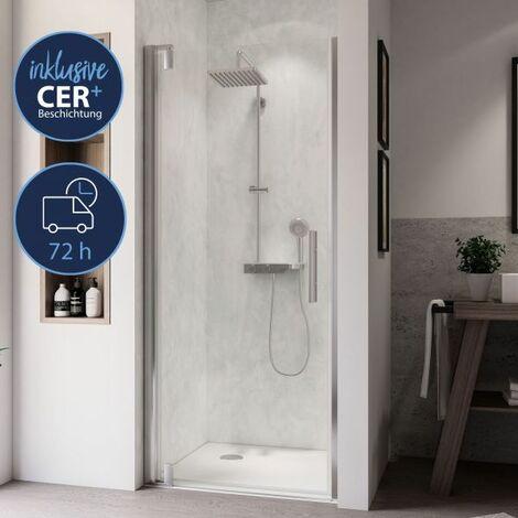 Breuer Dusche Europa Design Drehtür Nische Anschlag Links 90 cm inkl. CER+ Beschichtung