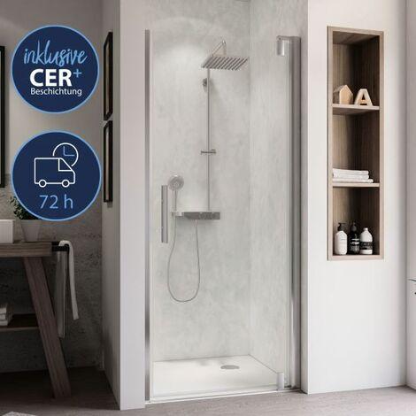 Breuer Dusche Europa Design Drehtür Nische Anschlag Rechts 90 cm inkl. CER+ Beschichtung