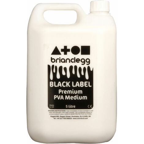 Brian Clegg Black Label PVA Glue 5 Litre