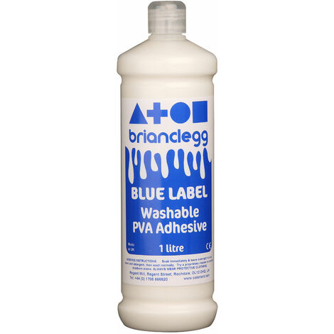 Brian Clegg Blue Label Washable PVA Glue 1 Litre