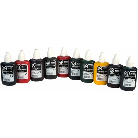 Brian Clegg Marbling Inks - Pack of 10 assorted colours