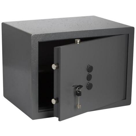 BRICARD Coffre-fort a clé + Boutons 49 x 36 x 35 cm a poser - 43,5 kg - 49, 6 L