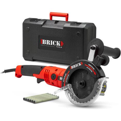 BRICK BSCDL1200-125BM - Sierra de doble hoja de 1200 W con maletita