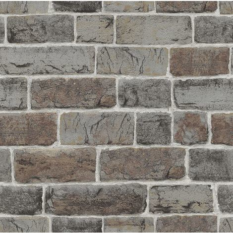 Brick Effect Wallpaper Natural Wall Urban Stone Embossed Industrial Rustic