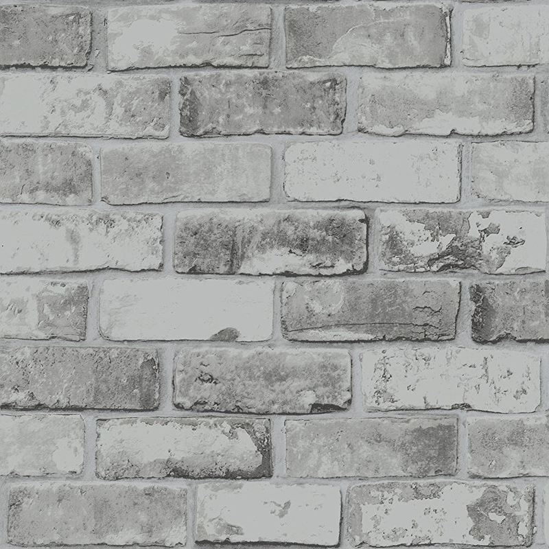 Image of Debona - Brick Effect Wallpaper Slate 3D Weathered Stone Realistic Paste The Paper