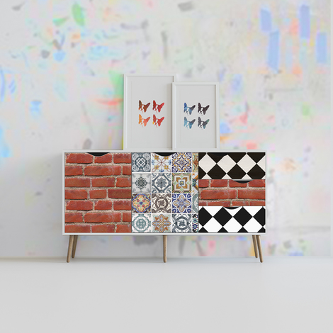 Brick Lane walk Furniture Wrap Self-Adhesive Decal Home D?cor Accessories
