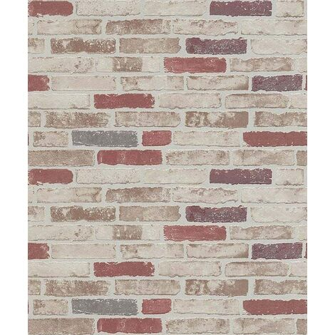 Brick - Wallpaper - Red - Paste the wall - 10mtr Roll - 6703-13