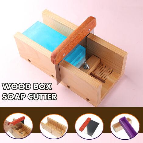 Bricolage en bois cuisine pain savon moule ensemble bo?te outil de coupe avec lame en acier inoxydable