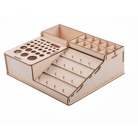 Bricolage en bois porte-outils Pigment peinture bouteille support modèle organisateur support de stockage (type2 303)