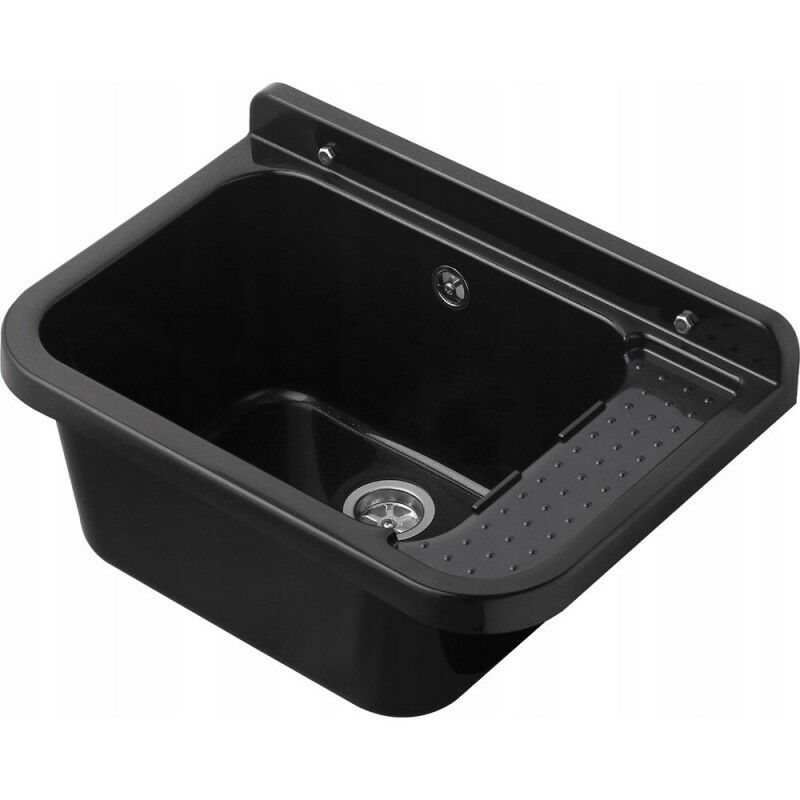 Bricoland - Lavabo évier 60cm vasque noir