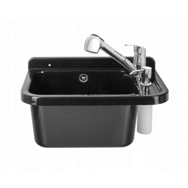 Bricoland - Lavabo lavabo batterie chambre utilitaire noir 50