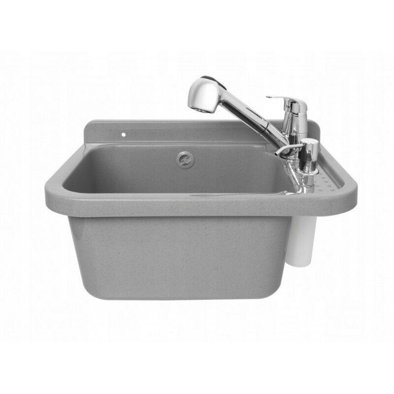 Bricoland - Lavabo lavabo chambre utilitaire gris robinet 60