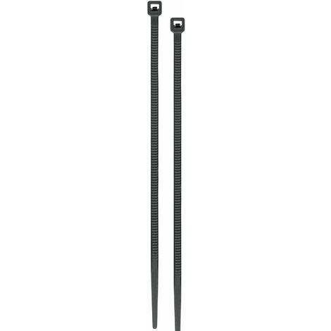 Brida plástica, 3.5mm, 25 cm, negro, bolsa 50 pzas
