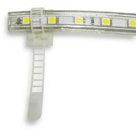 Brida plástica para Tiras LED con base adhesiva 3M