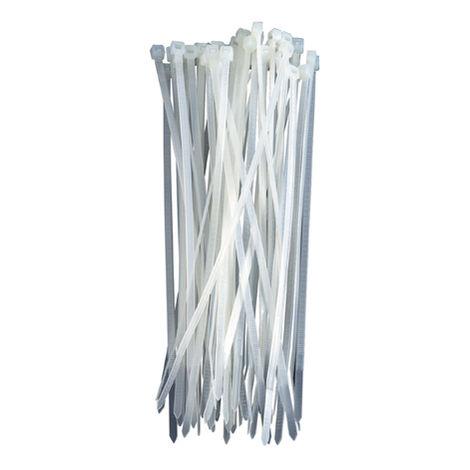 bridas 2,5*100 blanca 100 unidades
