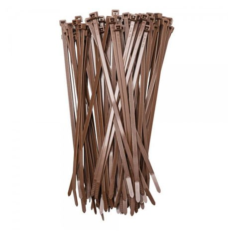 """main image of """"50 bridas de nylon marrón para sujeción"""""""