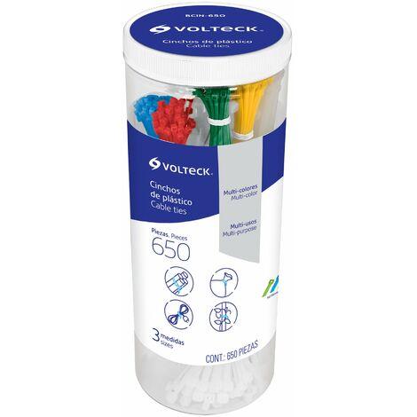 Bridas plásticas surtidas colores, 650pzs