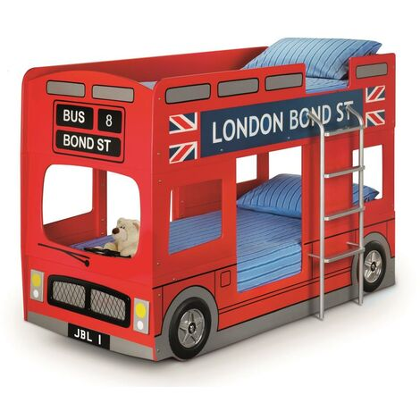 Bridget 3ft Single 90 x 190 RED LACQUER London Bus Bed Frame