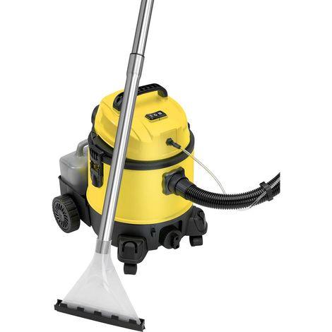 Briebe Lava-aspiradora con limpiador de tapiceria para coche, alfombras, colchones, aspiradora industrial en humedo seco, depósito de 20 litros residuos, depósito detergente 4 litros, 1200W