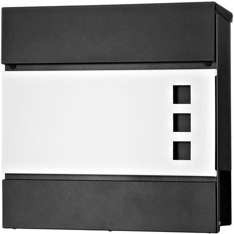 Briefkasten Edelstahl Wandbriefkasten Zeitungsfach Zeitungsrolle Namenschild Design Mailbox Kasten Postkasten Wandmontage