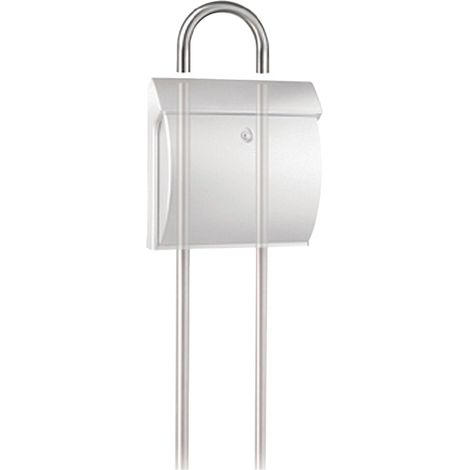 Briefkasten-Ständer-Aufsatz Universal 190 Ni Durchmesser 32mm Edelstahl