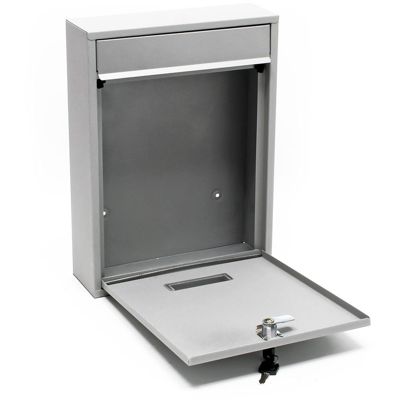 B-Ware Grafner Edelstahl Designer Briefkasten Wandbriefkasten Postkasten Eckig