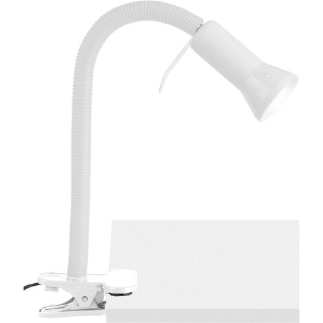 Brilliant Antony Klemmleuchte Energiesparlampe E14 40W Weiß X93066