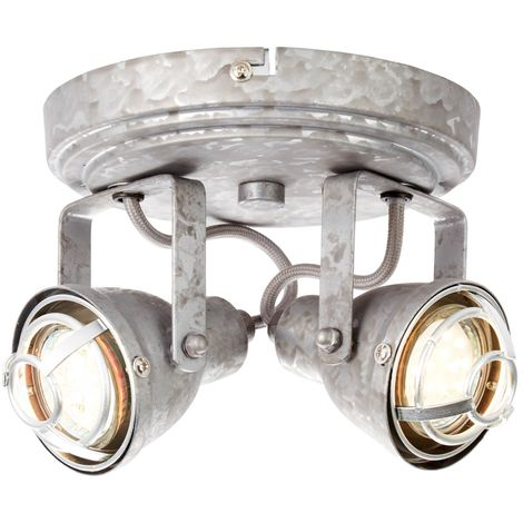 A++ Brilliant Halogen-Strahler /'Bente/' Metall Vintage Industriell dimmbar