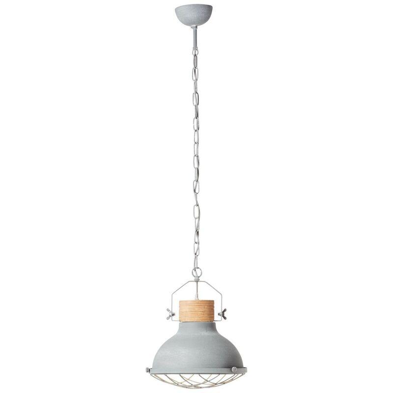 EMMA Pendelleuchte 133 cm Metall / Holz Grau Beton, 93571/70 - Brilliant
