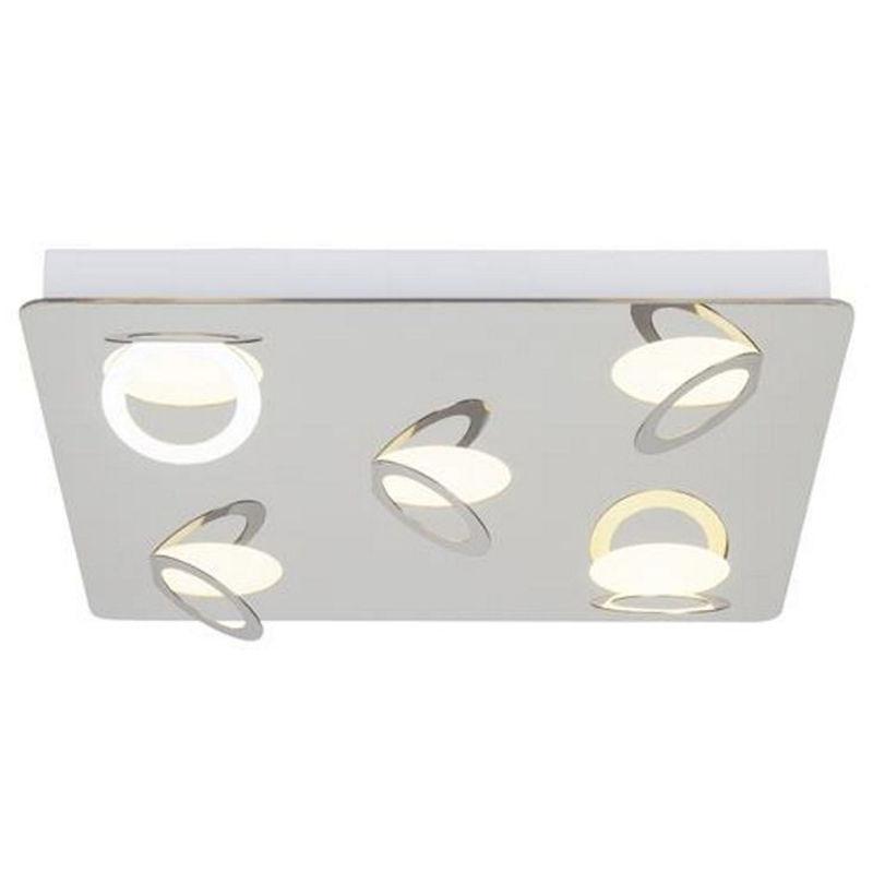 Brilliant G19195/15 Doors Round LED Deckenleuchte 5x9W warmweiß Metall 2520 lm