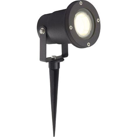 BRILLIANT Lampe exterieure LED a piquer noir