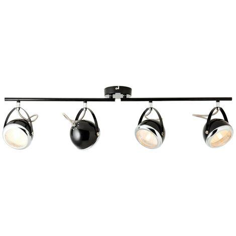 LED Deckenlampe Strahler 4 flammig Spots Glasschirm Deckenleuchte Wohnraum Flur