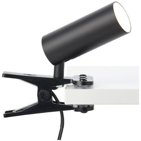 BRILLIANT SOEREN LED Klemmleuchte 18 cm Metall / Kunststoff Schwarz samt, G83001/06