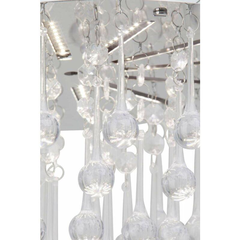 BRILLIANT SVEA LED Deckenleuchte Deckenlampe 15 Watt Chrom//Transparent  Ø 33 cm