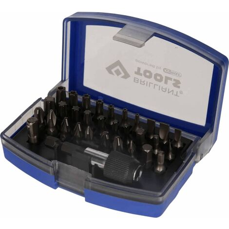 "BRILLIANT TOOLS Screwdriver Bit Set 1/4"" Steel 32 pcs"