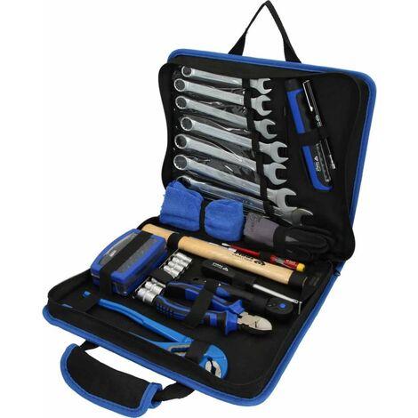 BRILLIANT TOOLS Set de herramientas acero 64 pzas en maletín de cuero